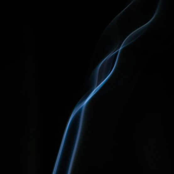 smoke from a burning cigarette